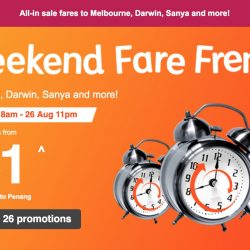Jetstar: Weekend Fare Frenzy with Year-end Getaways to Penang, Melbourne, Darwin & More from SGD51!