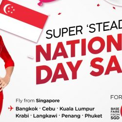 AirAsia: National Day Sale with Fares to Krabi, Phuket, Penang, Langkawi & More from SGD0.53