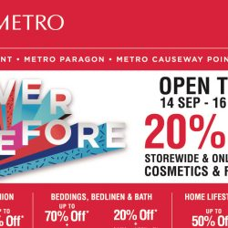 Metro: Never Before Sale with 20% OFF Storewide & Online Including Cosmetics & Fragrances for Everyone & Many Other Exciting Deals!
