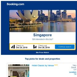 [Booking.com] Deals in Singapore from S$ 63