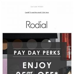 [RODIAL] 25% Off: Payday Perks 💗