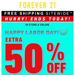 [FOREVER 21] It's your last chance!