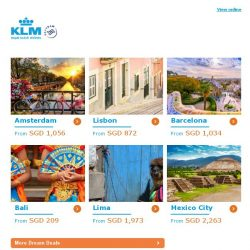 [KLM] ✈ , get your Dream Deal now!