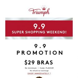 [Triumph] 9/9 Flash Sale $29 Bras Up for Grabs!