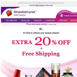 [StrawberryNet] 24 HRS LEFT to Enjoy Extra 20% Off + Free Shipping!