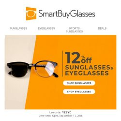 [SmartBuyGlasses] 12% off your favourite designer glasses • starts today!
