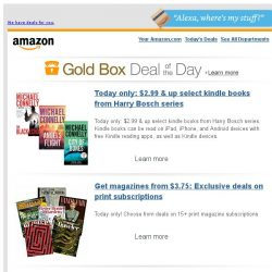 [Amazon] Today only: $2.99 & up select kindle books from...