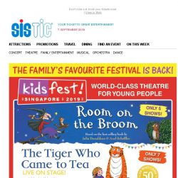 [SISTIC] World-Class Theatre for Young People! KidsFest 2019 – ON SALE TODAY!