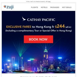 [Zuji] BQ.sg: Fly to Hong Kong fr $244 with free tour!