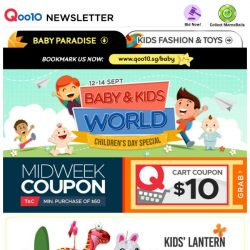 [Qoo10] A Special Gift For Your Child! Kids' Lantern Fr $2.60   Kids' Backpack $5.90   Mosquito Repellent Clip $0.99   Kids' Watches $7.90 & More!