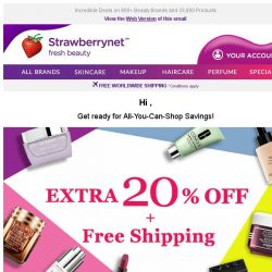 [StrawberryNet] , You've Scored ✨ Extra 20% Off ✨ Exclusive! 😘