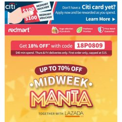 [Redmart] 🎁 Gifts and savings this Midweek Mania! 🎁