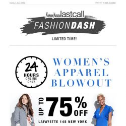 [Last Call] ⏳ 24 hours: Women's apparel BLOWOUT