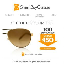 [SmartBuyGlasses] Check out our top 100 sunglasses under S$150 for your next SmartBuy!