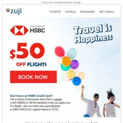 [Zuji] BQ.sg: $50 OFF flights, limited time offer!
