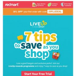 [Redmart] Coupon expired? Get 20% OFF with code 20PLUDEAL!