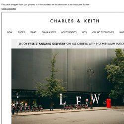 [Charles & Keith] ONE MORE DAY TO GO: Catch us at London Fashion Week 2018.