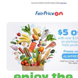 [Fairprice] Pick From Our Fresh Selections
