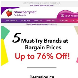 [StrawberryNet] 🔥 5 MUST-TRY Brands at Bargain Prices