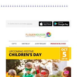 [Floweradvisor] Big surprise for little ones. Get 10% Off specially for children's day!