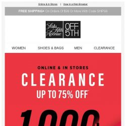 [Saks OFF 5th] Your Paul Andrew item is waiting! + 3000+ clearance styles up to 75% off!