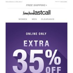 [Last Call] Almost over: Extra 35% off entire site