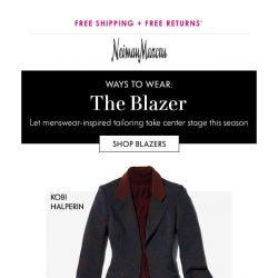 [Neiman Marcus] Blazers: Morning, noon & night