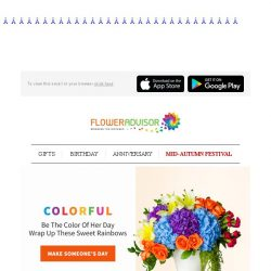 [Floweradvisor] Color Up Her Day with These Colorful Blooms!