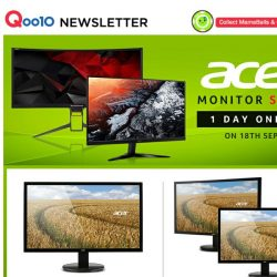 [Qoo10] Acer One Day Monitor Sale! Save Up to 27% on Dual Monitor Bundle! Sale Ends 11:59pm Tonight