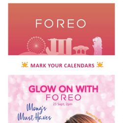 [Foreo] 20% off at ION Orchard Sephora – Never before, one day only!