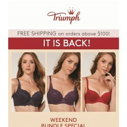 [Triumph] 2 for $69.90 Bras Deal Is Back!