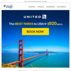 [Zuji] BQ.sg: Fly to USA fr $920!