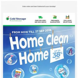 [Cold Storage] ✨ Home Clean Home - Up to 38% Off Household Products! ✨
