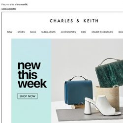 [Charles & Keith] Check out what's new today