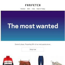 [Farfetch] The hottest pieces on Farfetch right now