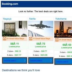 [Booking.com] Nagoya, Narita, or Yokohama? Get great deals, wherever you want to go