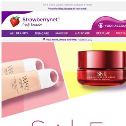 [StrawberryNet] Most Coveted Skincare on SALE up to 70% Off!