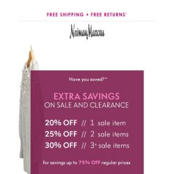[Neiman Marcus] Have you shopped the sale yet?