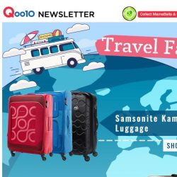 [Qoo10] ✈[Travel Fair] Ready for your vacation? Get all your travel needs here today and travel in style!