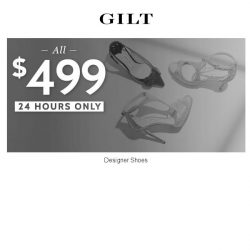 [Gilt] All $499 Designer Shoes for 24 Hours Only