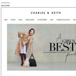 [Charles & Keith] CHARLES & KEITH's pet collection is NOW AVAILABLE.