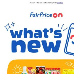 [Fairprice] New Treats Have Arrived!