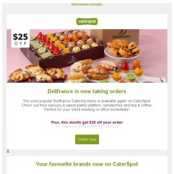 [CaterSpot] New Caterers: Delifrance, SaladStop!, Popeyes & more