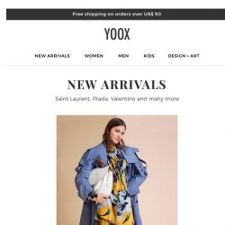 [Yoox] I'm finally here! New arrivals for you