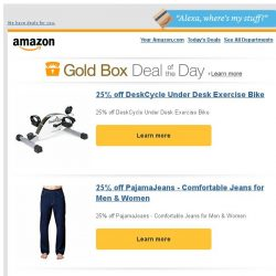 [Amazon] 25% off DeskCycle Under Desk Exercise Bike