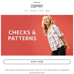 [Esprit] Classic Print Trends Revitalized