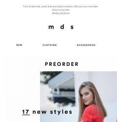 [MDS] Discover your new style | Check out our latest launch