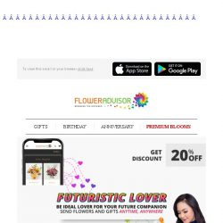 [Floweradvisor] Special 20% off for your future wife or husband. Check it out!