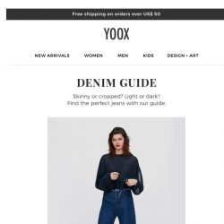 [Yoox] The Denim Guide: find the perfect jeans
