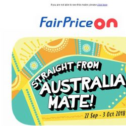 [Fairprice] Go Aussie With Us!